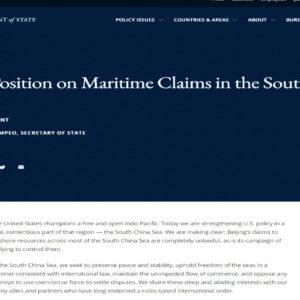 Chuyên gia: Mỹ sẽ 'hành động mạnh hơn' sau khi bác yêu sách Biển Đông của TQ