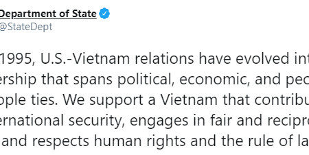 "Human rights are a priority ""throughout"" for 25 years of US-Vietnam relations"