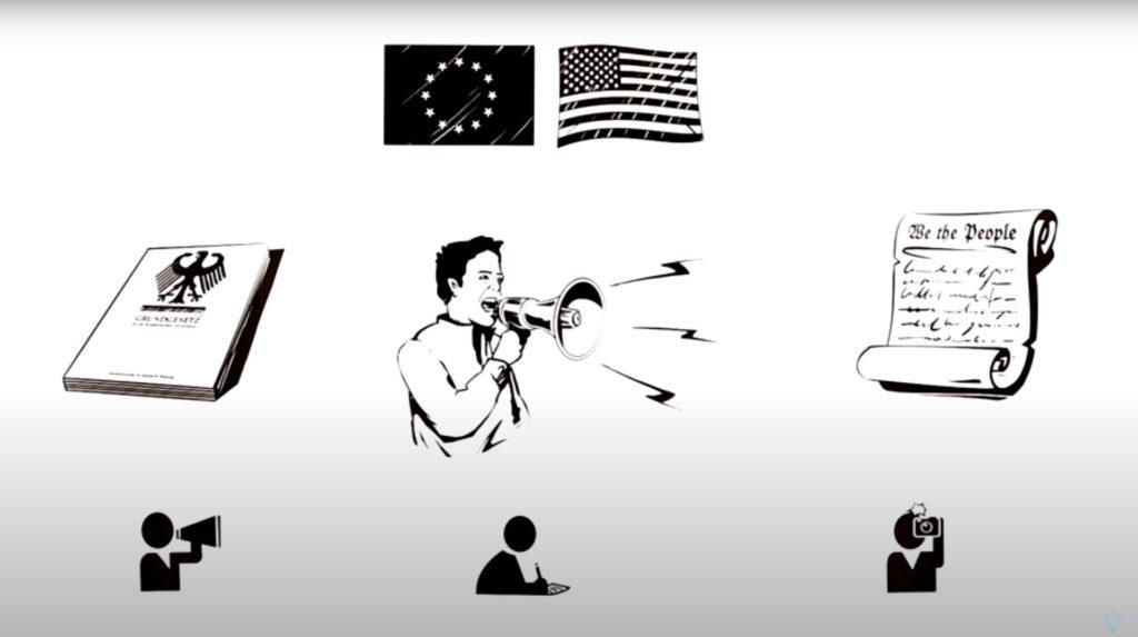 Hình minh hoạ. Biểu tình phản đối bên ngoài toà án ở Hà Nội xét xử các nhà hoạt động thuộc Hội Anh Em Dân Chủ hôm 5/4/2018