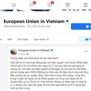 EU requires Vietnam to promote human rights when implementing EVFTA