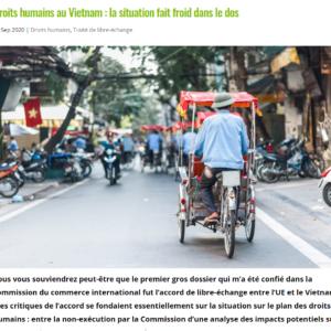 Lạnh  xương sống với tình trạng nhân quyền tại Việt Nam