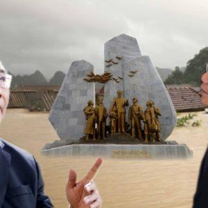 Tượng đài khô ráo – Dân tình ngụp lặn