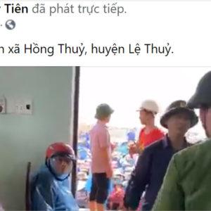 Cô Thủy Tiên phát tiền cứu đói – Đảng cầm quyền lao tới giật cơm