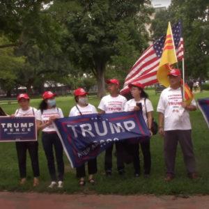 Người Mỹ Gốc Việt xuống đường vì tổng thống Trump