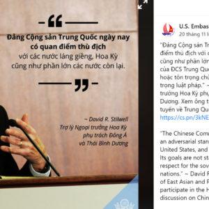"""Đại sứ quán Mỹ – Trung đấu khẩu """"dữ dội"""" giữa Hà Nội"""