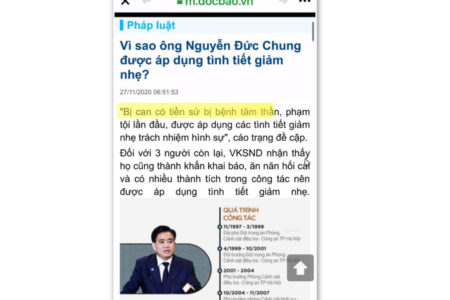 Former Hanoi chairman was mentally ill or not? Trying to escape from being punished?