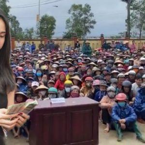 """Thủy Tiên làm từ thiện – Tranh cãi vụ """"Bác trưởng thôn"""""""