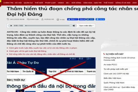 Vì sao báo Nhà nước nói thông tin 'xấu, độc, chống phá Nhà Nước và Đại Hội Đảng' tăng cao?