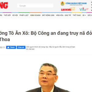 Could former Deputy Minister Ho Thi Kim Thoa escape red wanted order