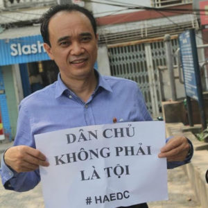 """Hanoi-based Democracy Campaigner Nguyen Trung Linh Secretly Convicted of """"Conducting Anti-state Propaganda,"""" Sentenced to 12 Years in Prison"""