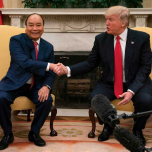 Vietnamese Prime Minister and President Trump talk about 'manipulation of currencies'