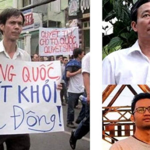 Independent journalists Pham Chi Dung, Nguyen Tuong Thuy, and Le Huu Minh Tuan were imprisoned