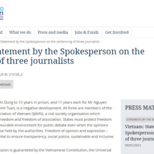 US and EU slam Vietnam's conviction of three independent journalists