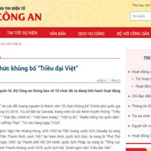 """Đảng Cộng sản Việt Nam dán nhãn """"khủng bố"""" cho đối kháng chính trị"""