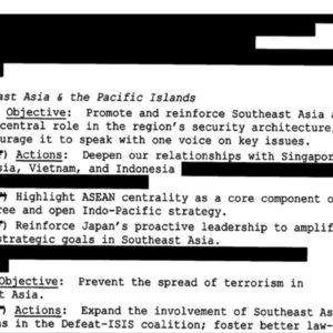 Việt Nam được nêu trong tài liệu mật về chiến lược an ninh của Nhà Trắng