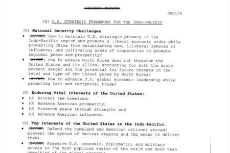 Vietnam is included in the White House's confidential security strategy document
