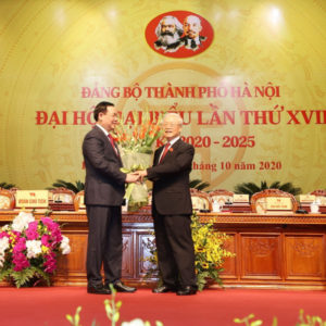 """Will Nguyen Phu Trong give """"his throne"""" to Vuong Dinh Hue?"""