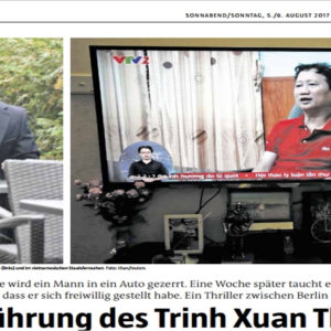 Disclosure: Trinh Xuan Thanh will return to Germany