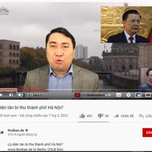 Đinh Tiến Dũng về Hà Nội, VTV hãy trả xem lời Thoibao.de có bịa đặt hay không?