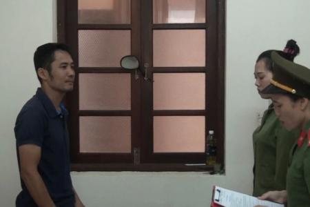 "Mr. Nguyen Bao Tien was arrested for ""distributing"" books printed by Liberal Publishing House"