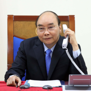 Talking phone with Vietnamese President Nguyen Xuan Phuc, the Japanese Prime Minister protests China's action