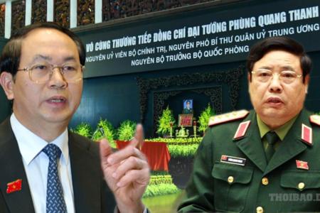 Xuống âm phủ Phùng Quang Thanh vẫn còn ganh đua Trần Đại Quang?