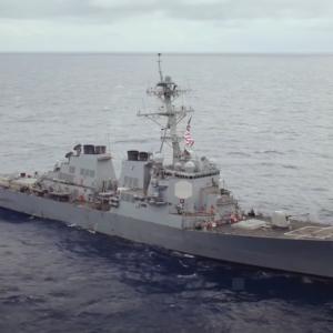 US warship patrols near Mischief Reef in Spratlys